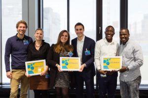 Startup-Gründer, die gerade ins Darmstädter Merck Innovation Center eingezogen sind © Merck