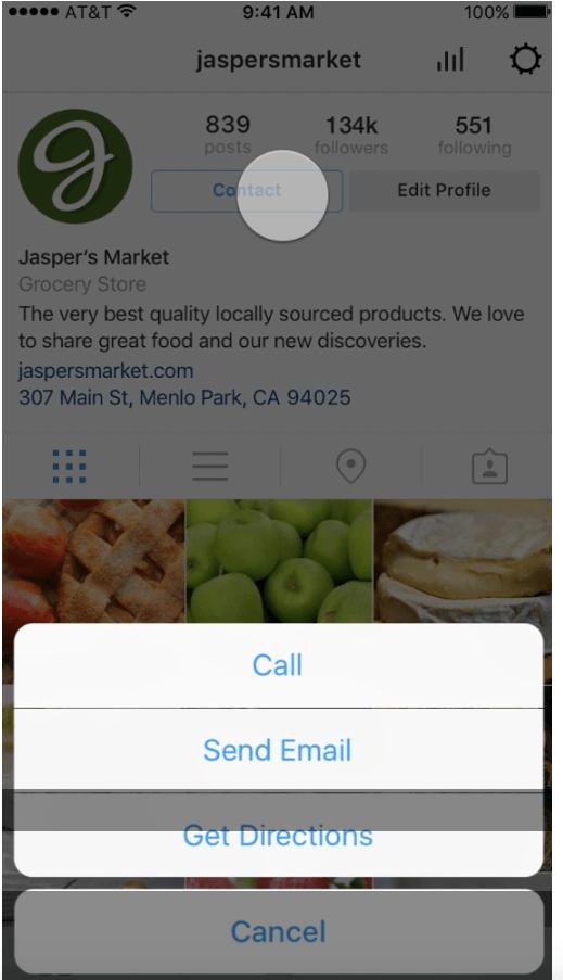 Business Tools auf Instagram