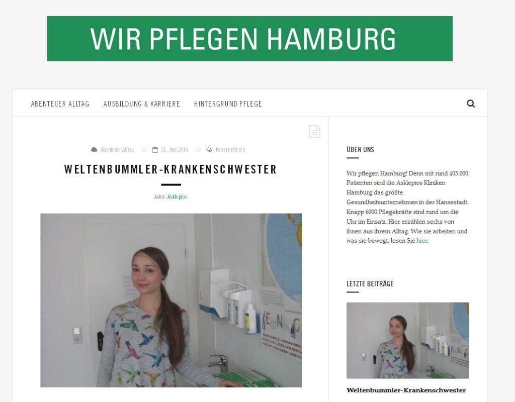 Blog: Wir pflegen Hamburg