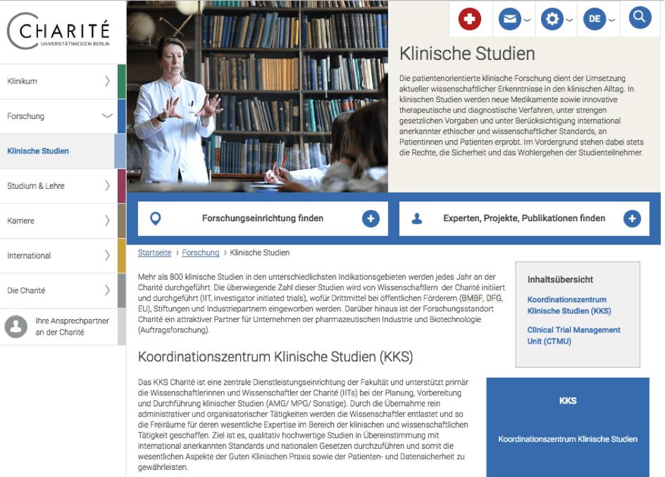Partner an der Seite der jungen Ärzte: Die Charité in Berlin bietet Wissenschaftlerinnen und Wissenschaftlern mit einem Koordinationszentrum eine Unterstützung für eigene klinische Studien.