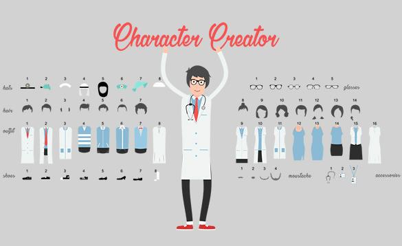 Character Creator für Erklärvideos