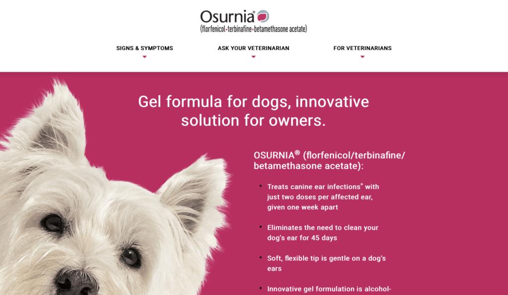 Benutzerfreundlich ist der Webauftritt für das Medikament Osurnia