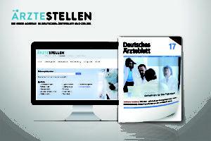 ÄRZTESTELLEN ist die erste Adresse für Ärzte auf Stellensuche. Die Stellenanzeigen erscheinen im Deutschen Ärzteblatt sowie auf aerztestellen.de.