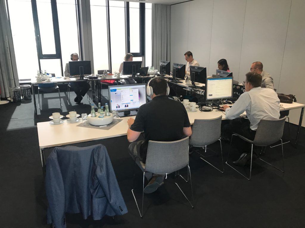 """Der """"War Room"""" beim Relaunch der Unternehmenswebseite von Merck."""