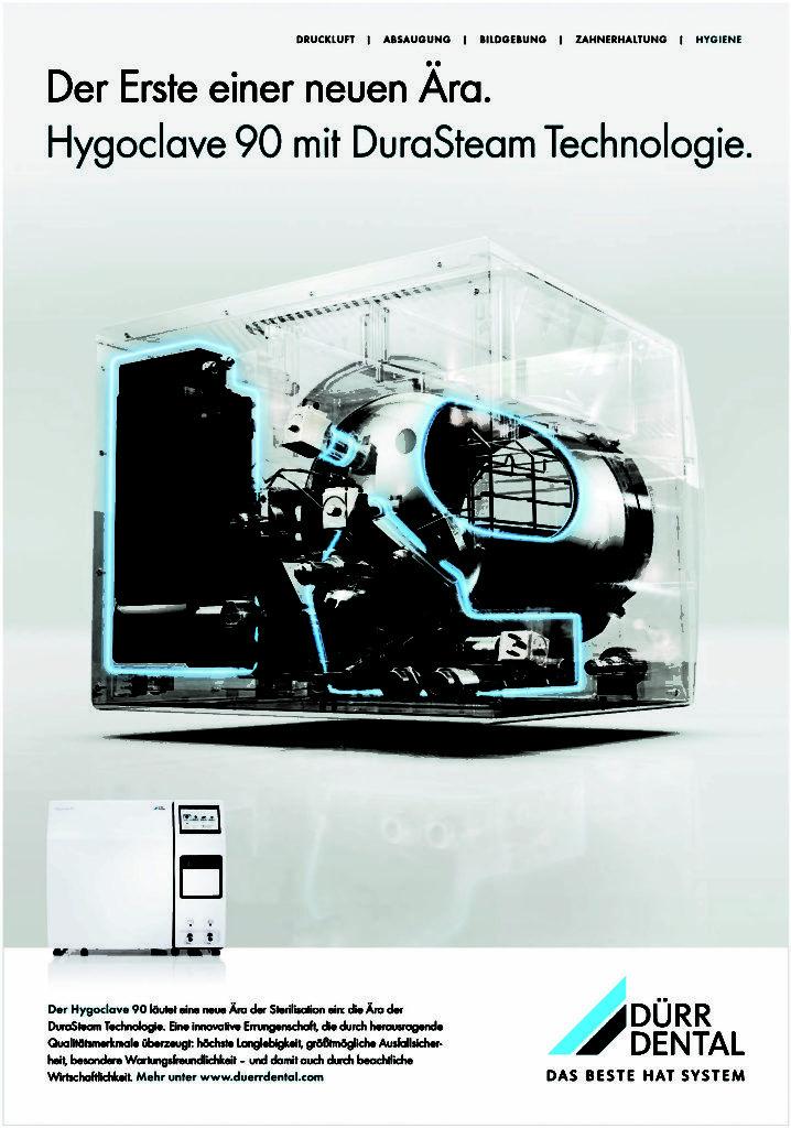 Die Printanzeige für den Hygoclave 90 von Dürr Dental
