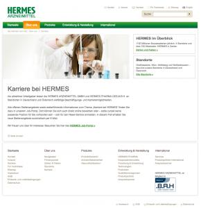 Die HERMES-Karriereseite im Dezember 2016...