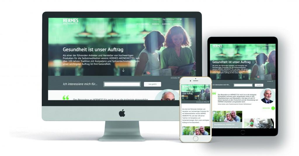 Der Look der Corporate Site von HERMES nach dem Relaunch