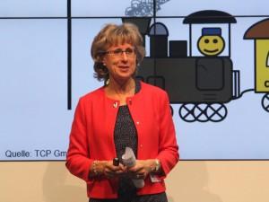 Frau Dr. Evelyn Kade-Lamprecht stellt die eHealth-Ideenküche vor.