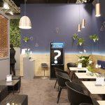 Die Business-Lounge am Stand des Deutschen Ärzteverlags bietet einen idealen Rückzugsort für Gespräche.
