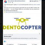 Henry Schein Dental warb für den Dentocopter und die Sanofi-medeor-Spendenaktion auf Facebbok.