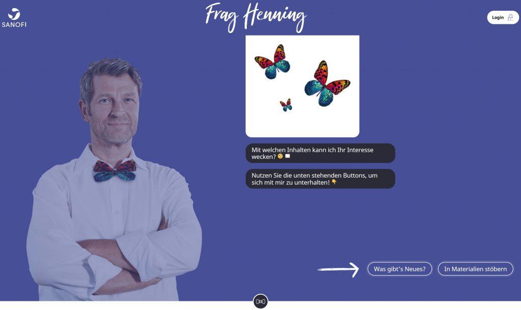 """""""Frag Henning"""" kombiniert Informatioen und Quizelemente."""