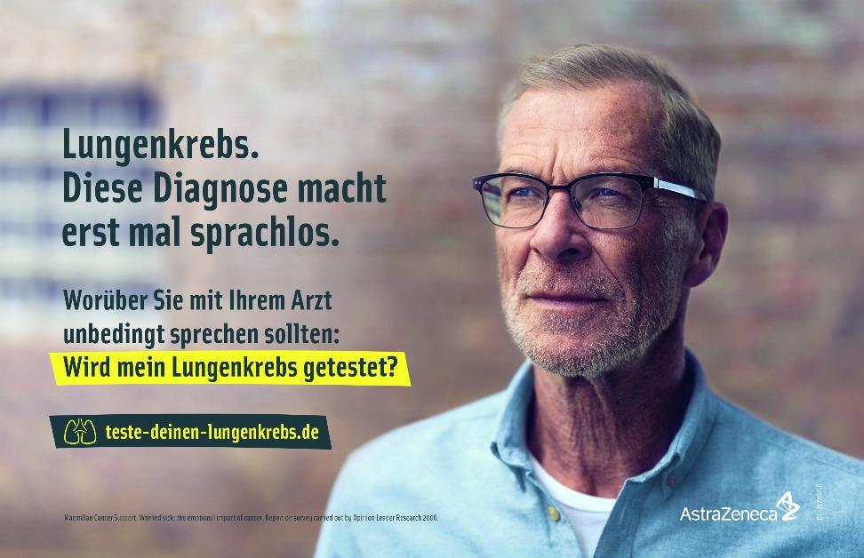 AstraZeneca startet Aufklärungskampagne zu Lungenkrebs. ©