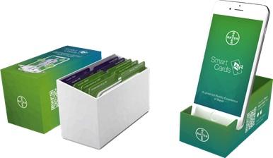 Die neue Bayer Smart Cards-App informiert Patienten via Augmented Reality. ©