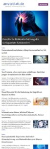 Deutsches Ärzteblatt Newsletter - Neurologie 1