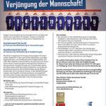 """""""Wieder mal Zeit für die Verjüngung der Mannschaft!"""", von: Elbe Kliniken/Agentur: Schult-Media Werbeagentur"""