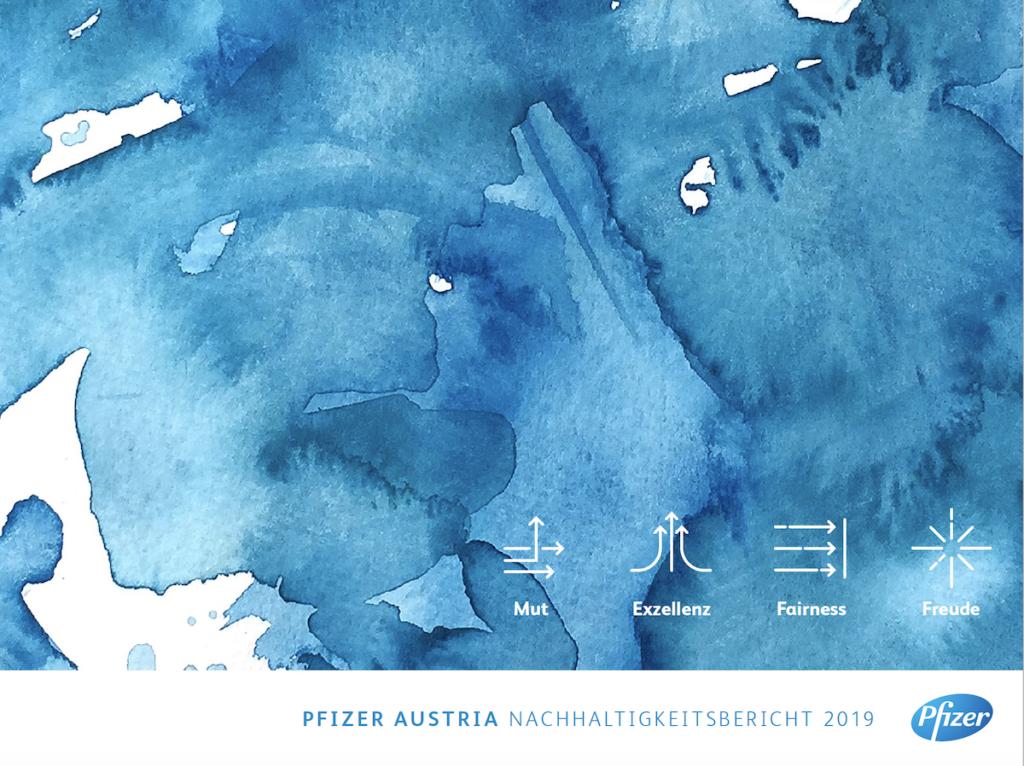 Pfizer Austria Nachhaltigkeitsbericht: Brand Marketing und Employer Branding mit dem Thema Nachhaltigkeit