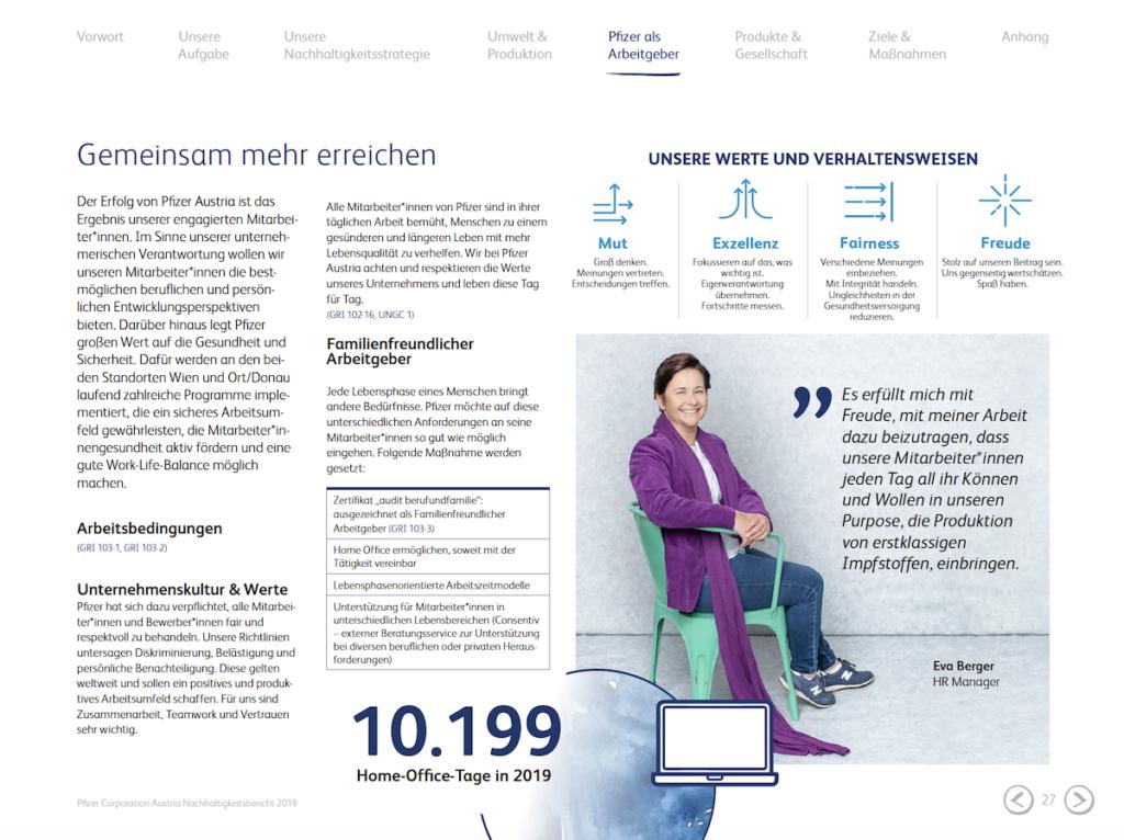 Pfizer Austria Nachhaltigkeitsbericht 2018/2019: Nachhaltigkeit punktet im Marketing