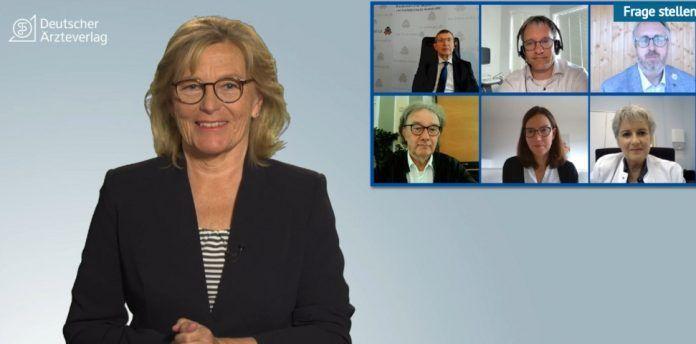 """Dr. Vera Zylka-Menhorn (Medizinjournalistin, Deutsches Ärzteblatt) moderiert die digitale Expertenrunde zum Thema """"Startklar für die COVID-19-Impfung in der Praxis""""."""