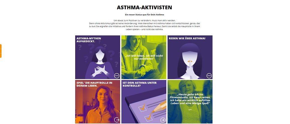 "Website Patienteninitiative ""Asthma-Aktivisten"""